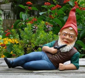A gnome is jealous of no man.