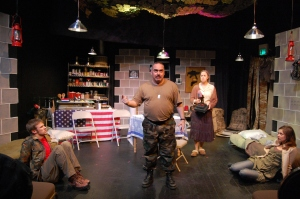 Better Homes and Amo – Production Shot, No Nude Men James Tinsley, Warden Lawlor, Molly Benson, Cassie Powell