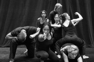 Troy: The Gates of Hell – Rehearsal Shot, SF State Rosie Josue, Aaron Teixeira, Vanessa Cota, Gregg Hood, Cecilia Palmtag, Teri Whipple, Megan Watson