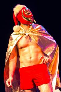 (I'm going to miss this cape and mask Lucha Libre Santa costume. Ahhh memories.)