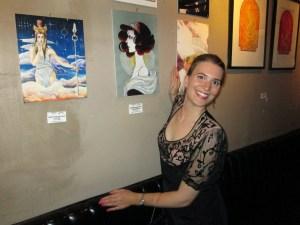 Marissa Skudlarek takes her place amongst the goddesses. Photo by Tracy Held Potter