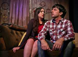 Colleen Egan and Scott Cox in DROWNING KATE.