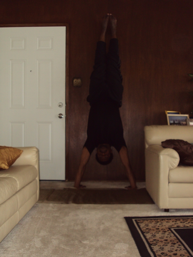 Charles – upside-down handstand