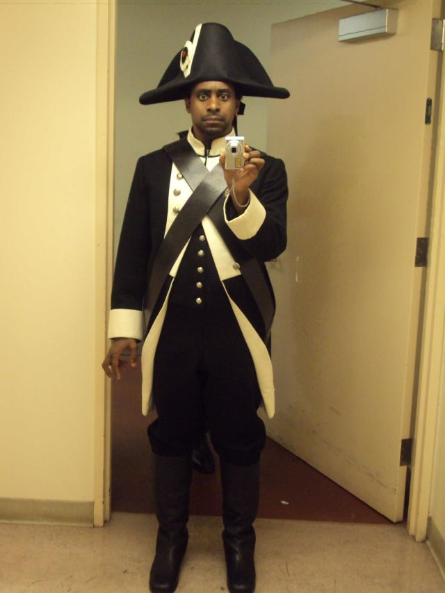 The Napoleanic look is in this season.
