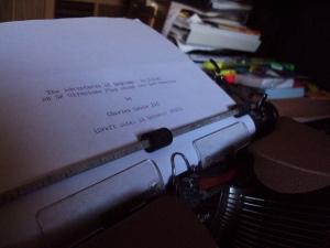 Charles Lewis III - Poseidon - typewriter