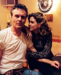 Kristine Sutherland and Anthony Stewart Head. Probably familiar if you watched Buffy the Vampire Slayer.