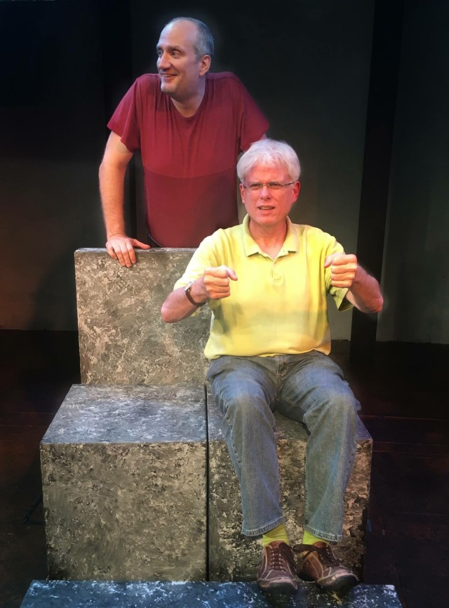 Dave Sikula and Brendan Everett in rehearsal at Custom Made for SAM AND DEDE.