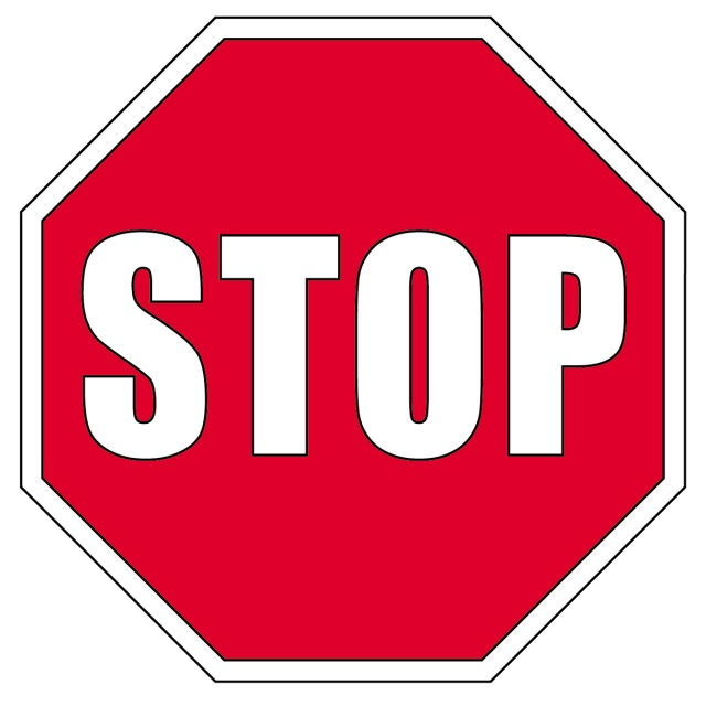 Stop sign copy