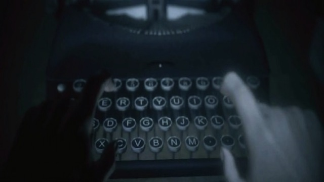 Even so, it's hard to argue with the tension of an incredibly dramatically lit typewriter.